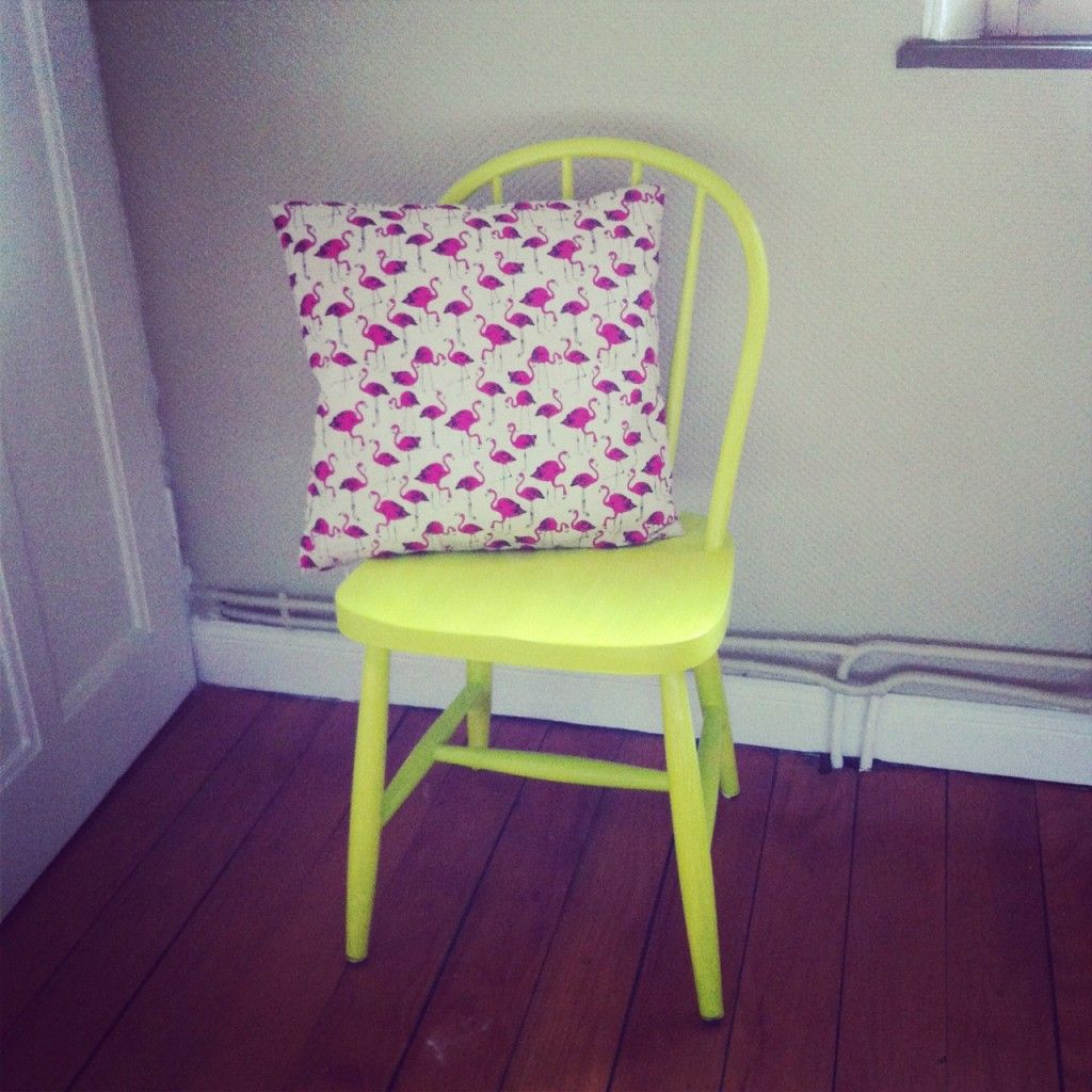 Punky's yellow chair