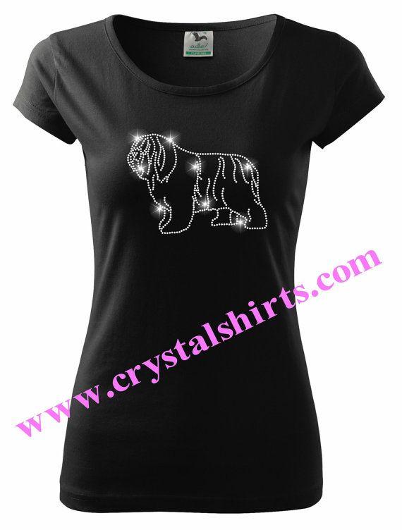 polish lowland sheepdog, pon rhinestone, bling t-shirt | pinterest