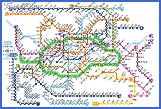nice Seoul Metro Map Tours Maps Pinterest