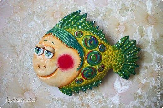 Поделка изделие Лепка рыбка Загадка Тесто соленое фото 1 ...
