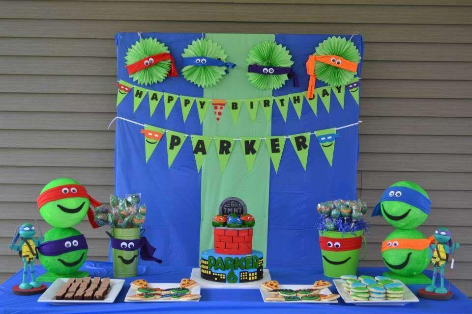 Teenage Mutant Ninja Turtles Birthday Party Ideas Photo 20 Of 37 Ninja Turtles Birthday Party Turtle Birthday Parties Ninja Turtle Birthday