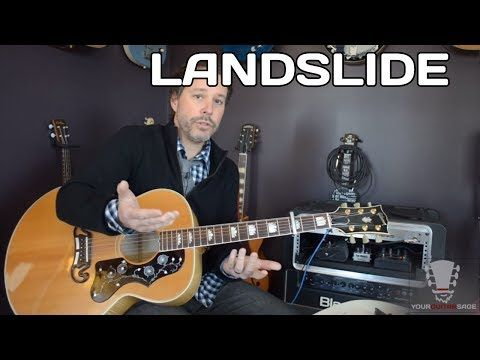 How To Play Landslide By Fleetwood Mac Acoustic Guitar Lesson