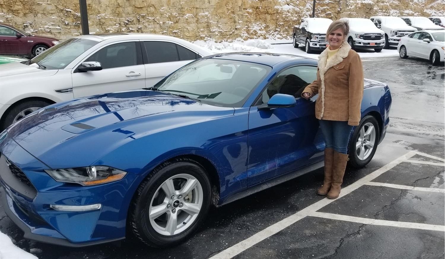 Awesome Congratulations To Laura On Your New 2018 Ford Mustang Thank You Again Auto Plaza Ford De Soto And Jason Carr Ford Mustang Desoto New Cars