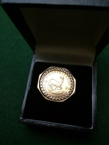 Hallmarked 9ct Yellow Gold 1 10 Krugerrand 1985 Ring Over 8g Size N1 2 O Ebay Pattern Ring Rings Yellow Gold