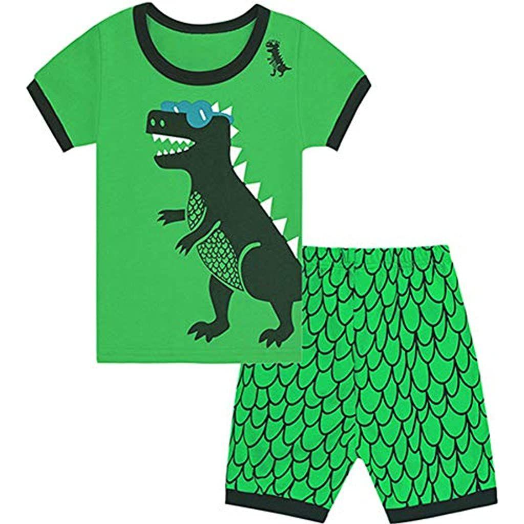 Pigiama per bambini da 1 a 12 anni in 100/% cotone motivo: dinosauro Qtake Fashion