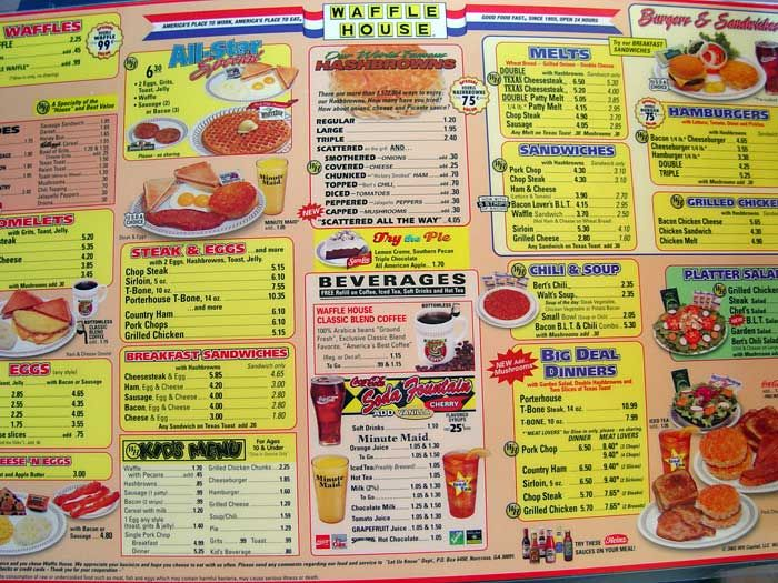 I Have Never Been To A Bad Waffle House If Only There Was One In Michigan Near Us Waffle House Menu Waffle House Waffles