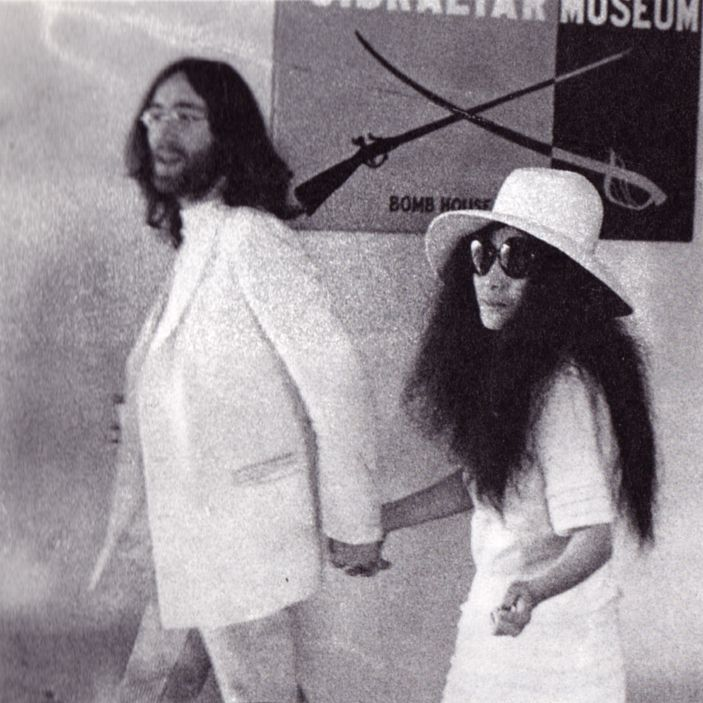 The 20 Year Wedding March: John And Yoko In Gibraltar On Their Wedding Day, 20 March