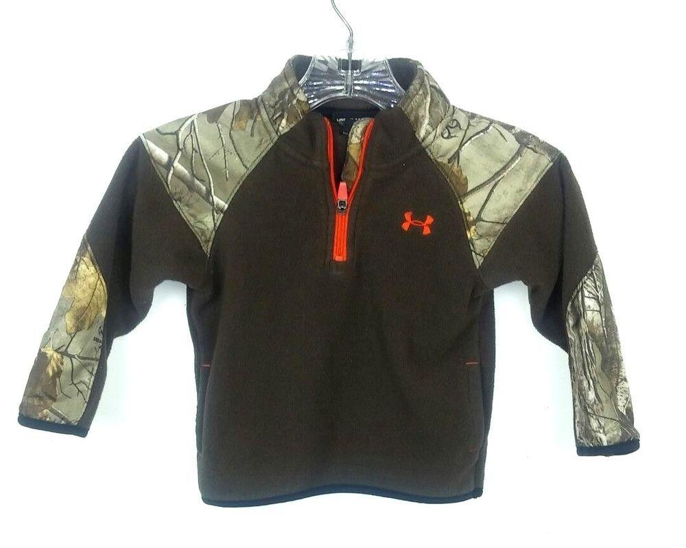 d458f6c2cab5 Under Armour Kids 2T Fleece Jacket Brown Camo Camouflage Outerwear ...
