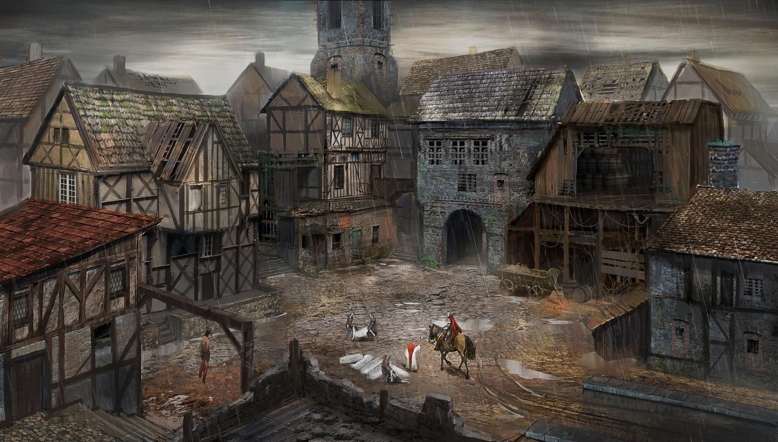 Witch S Curse By Asahisuperdry On Deviantart In 2020 Fantasy Village Fantasy Art Landscapes Fantasy Town