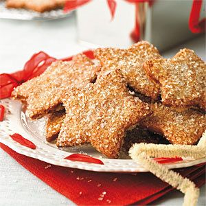 A heavy sugar crust and the peppery bite of fresh ginger make these gingerbread cookies scrumptious. Be sure your spices are fresh