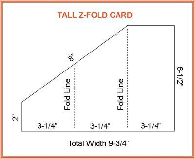 Tall ZFold Card  Cards    Cards Tri Fold Cards And