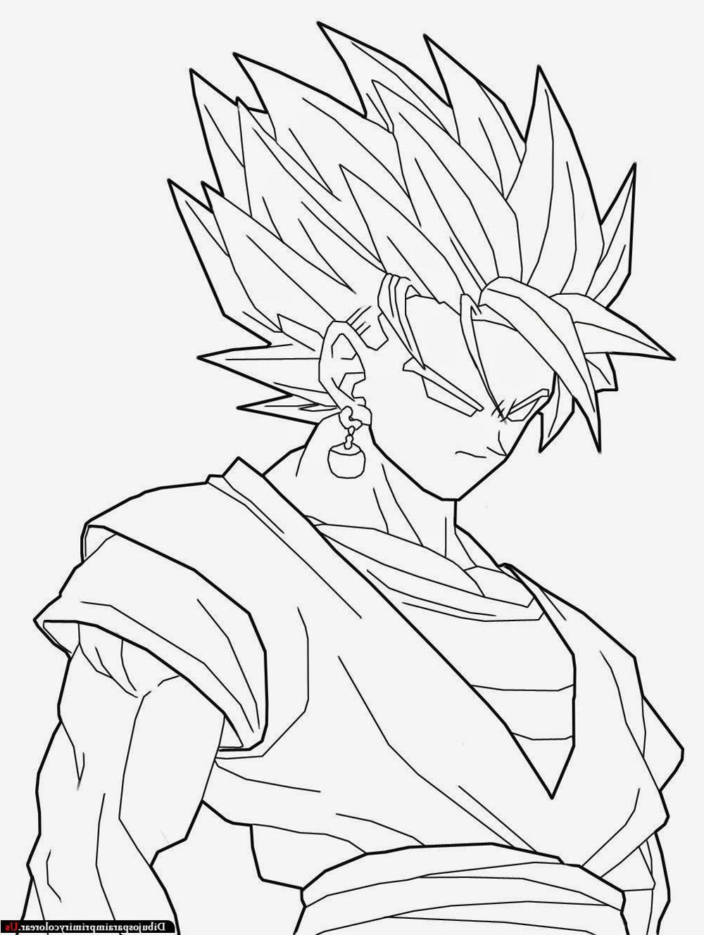 Dibujos de goku de Dragon Ball Z para Im | Imagen para colorear ...