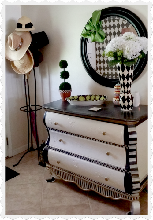 black painted furniture ideas. Black And White Painted Dresser Adds Storage To The Front Entry. Furniture Ideas H