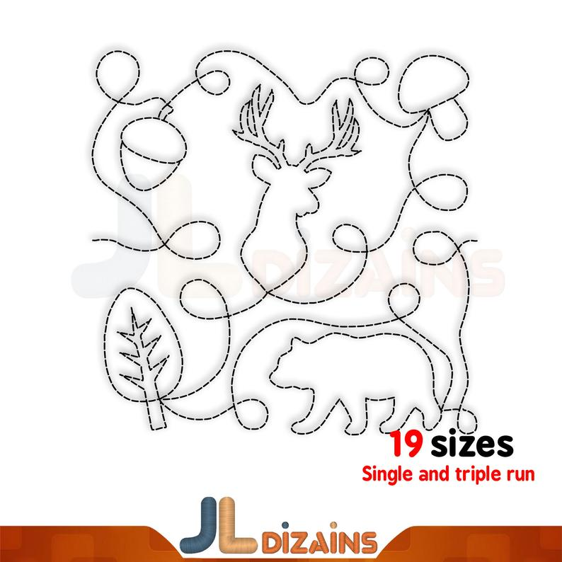 3 sizes for 4x4 5x7 6x10 hoop Quilt block machine embroidery design 5 Pumpkin frame Single and Triple run 4 6 square