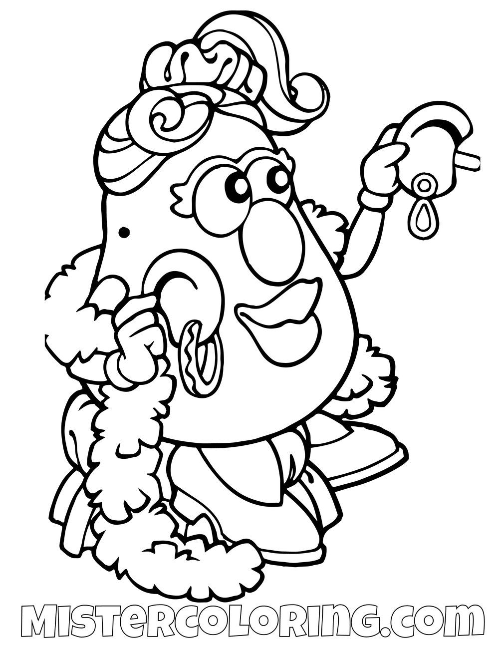 Mrs Potato Head Fancy Toy Story Coloring Page Paginas Para Colorear