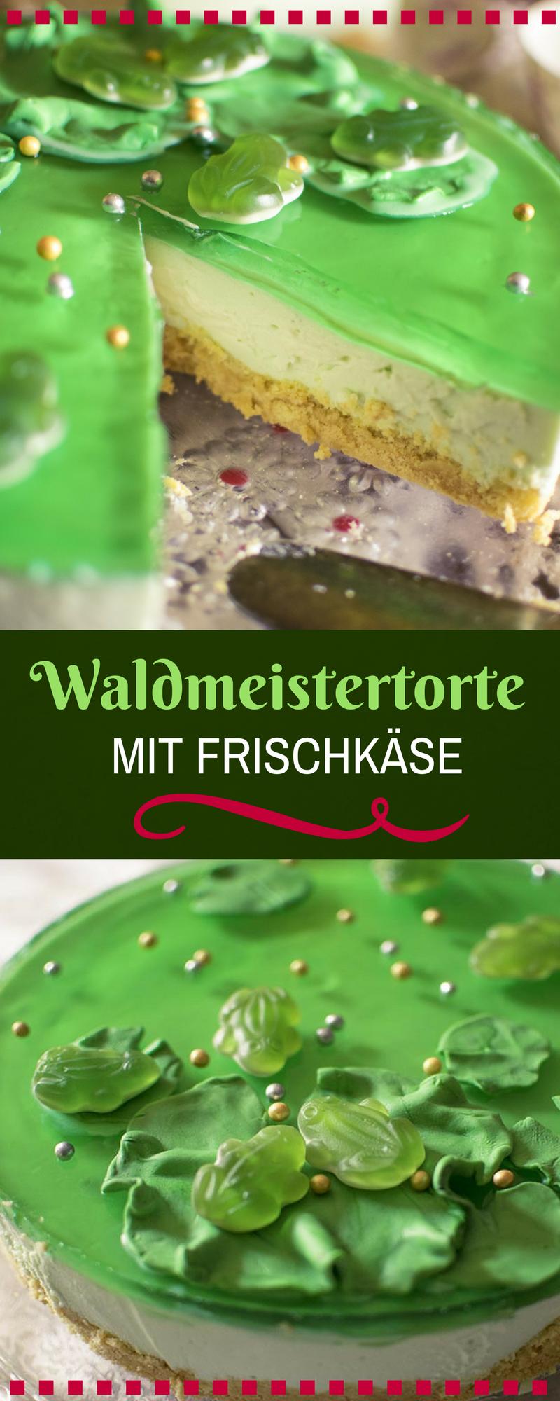 Waldmeister Frischkasetorte Ein Torte Ohne Backen Mit Gotterspeise