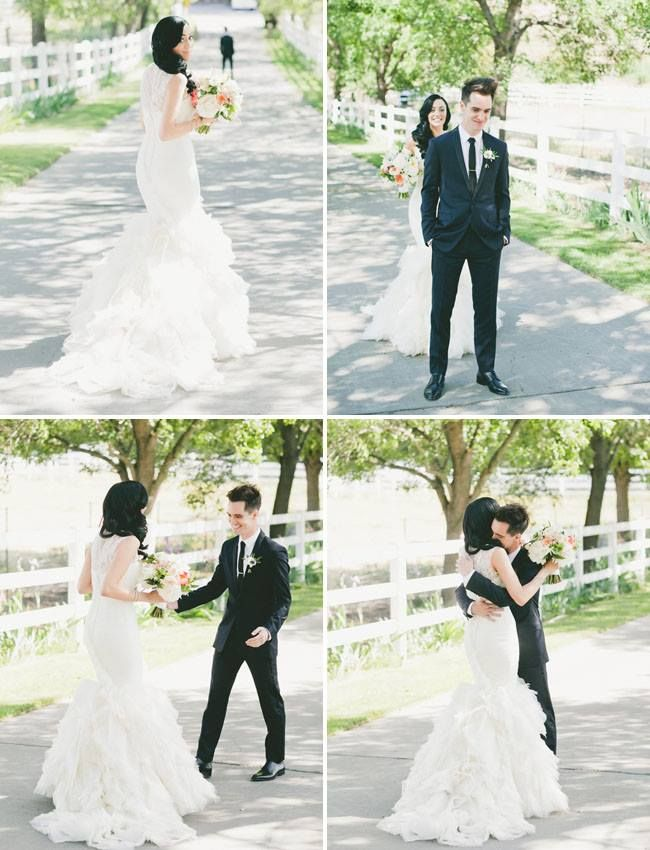 Aw they're so cute. I want pictures like this. Brendon and Sarah Urie
