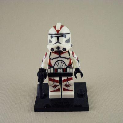 Lego Star Wars Clone Trooper Lieutenant Phase 2 Armor Mini Figure RED   eBay