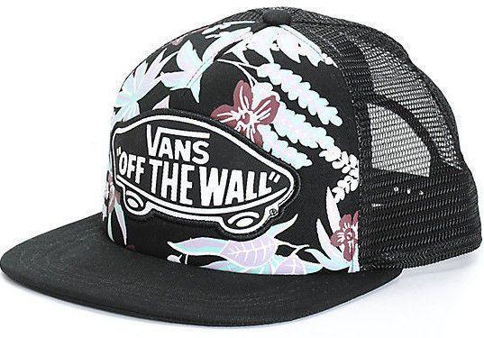 Vans Shoes Off The Wall Women S Van Doren Bg Trucker Hat Cap - Hawaiian  Floral 7dff63196