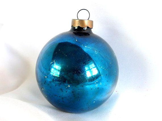 Vintage Large Blue Christmas Ornament Christmas Ornaments Vintage Christmas Ornaments Blue Christmas