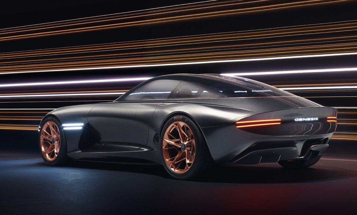 Genesis Essentia RetroFuturistic Electric Concept Car