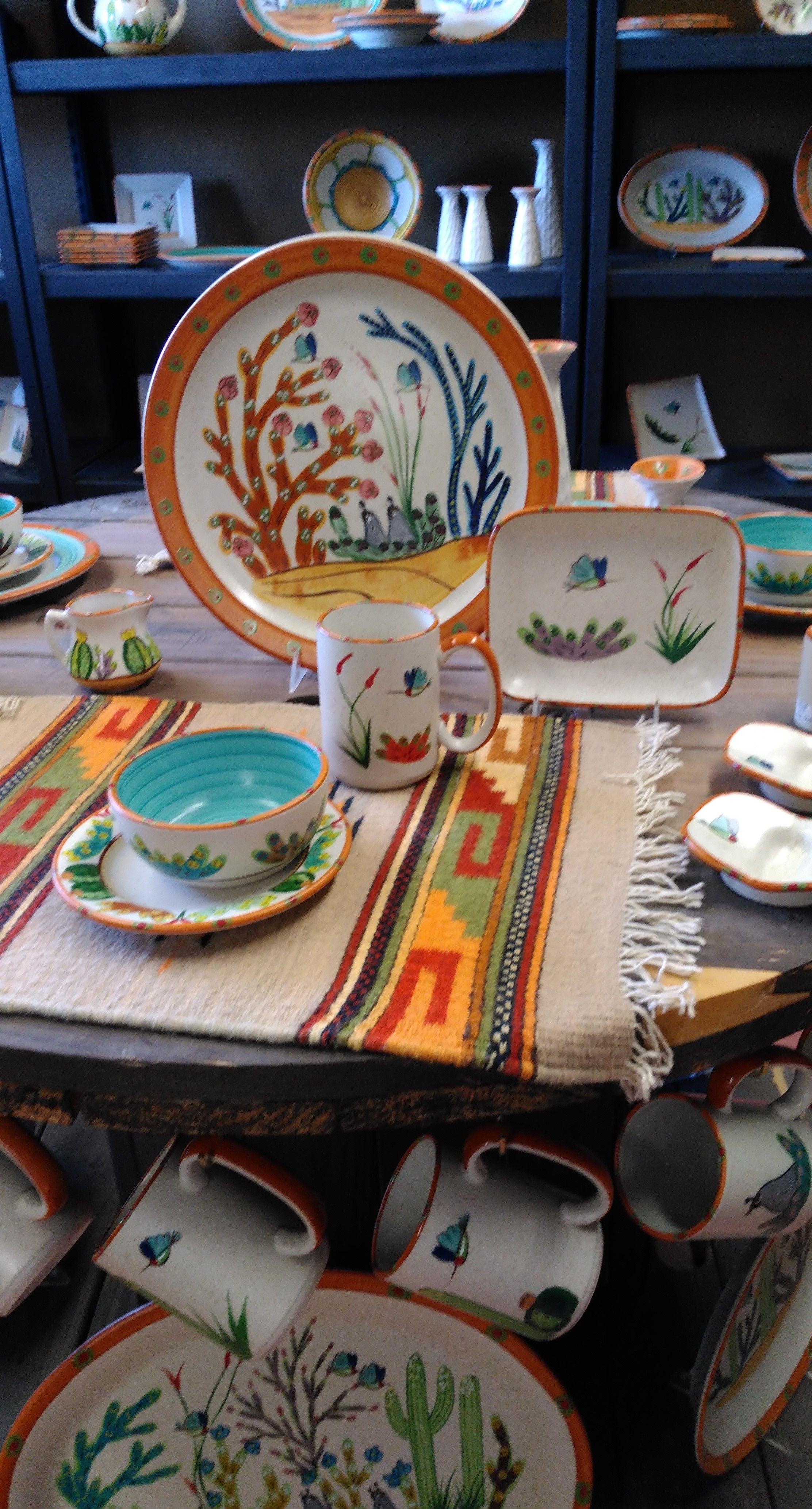 Hand Painted Sonoran Desert Dinnerware By Hf Coors Madeinusa