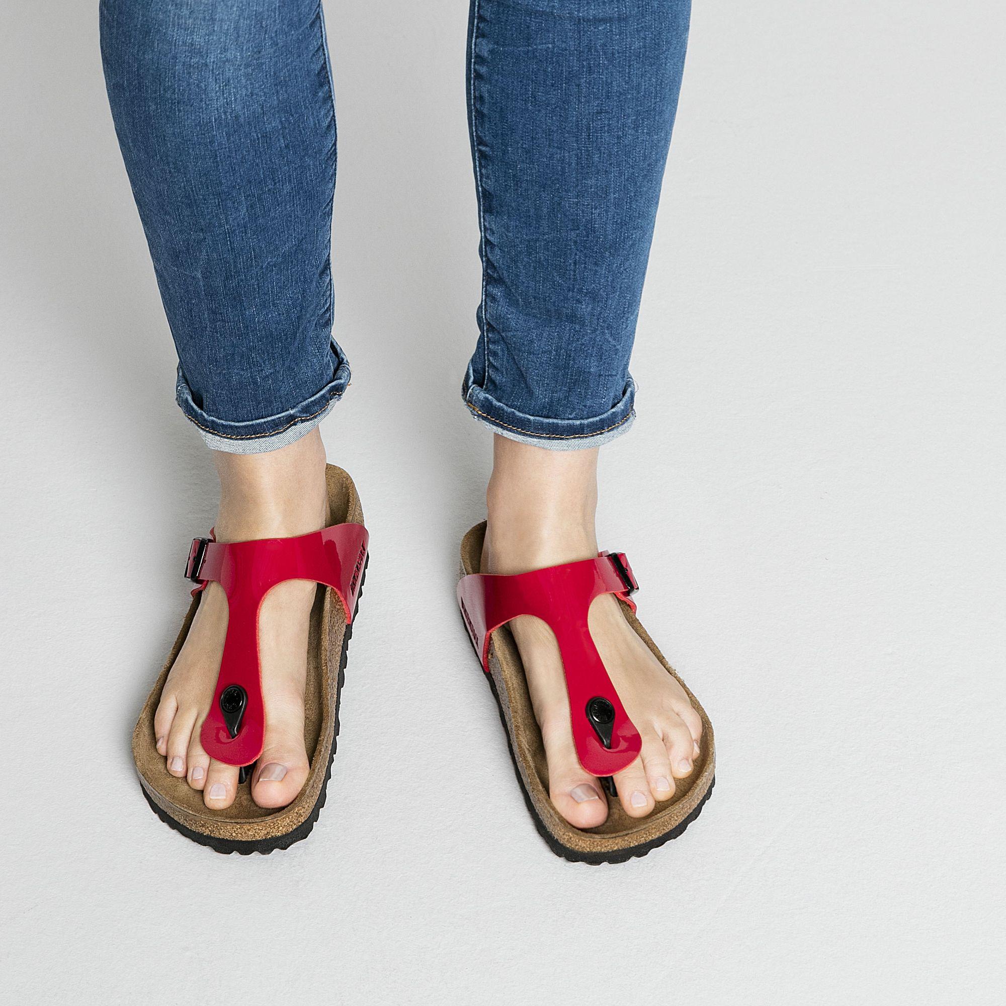 Gizeh Birko Flor Patent in 2020 | Sandals, Birkenstock, Shoes