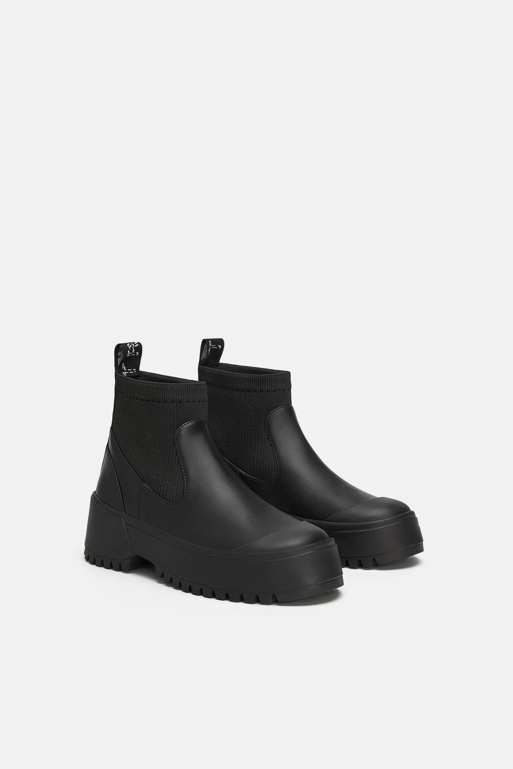 Stiefel, Schwarze stiefel flach