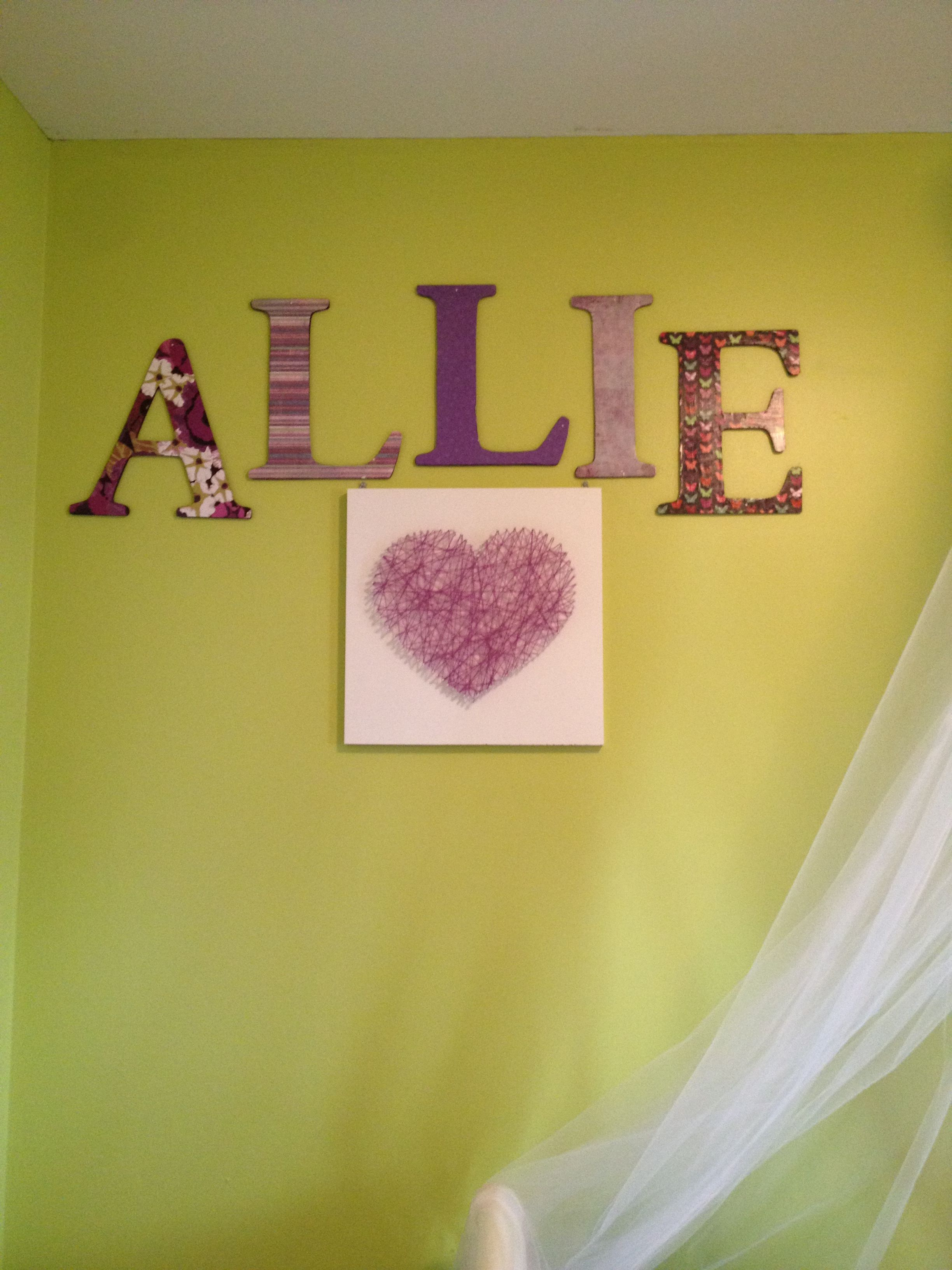 Mod Podge scrapbook paper onto wooden letters and pair it with ...
