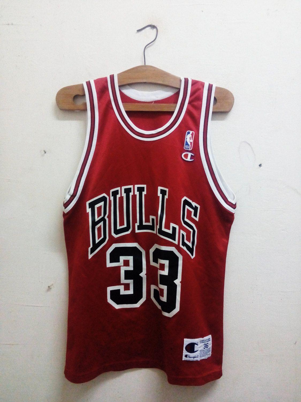 554f8ba2c Sale Rare !! Vintage Basketball Pro - Player Scottie Maurice Pippen