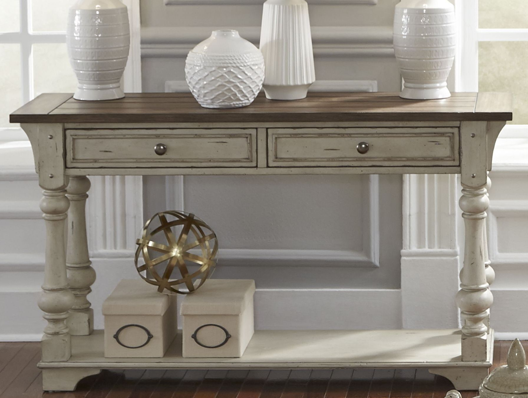 Creek antique white sofa table in 2020 liberty