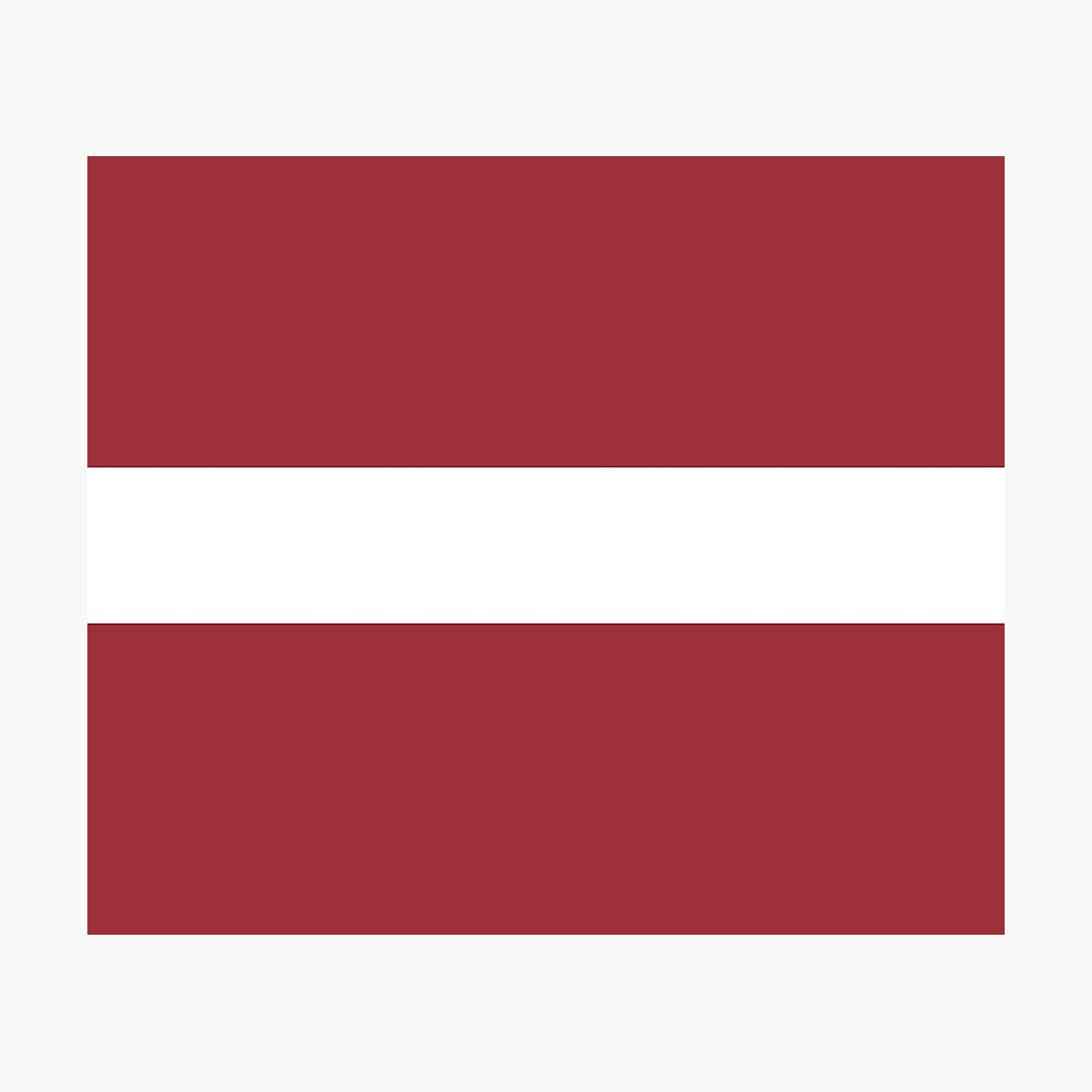 Flag Of Latvia Pattern Horizontal Stripes Red White Red Photographic Print By Disordershop Horizontal Stripes Red And White Red Pattern