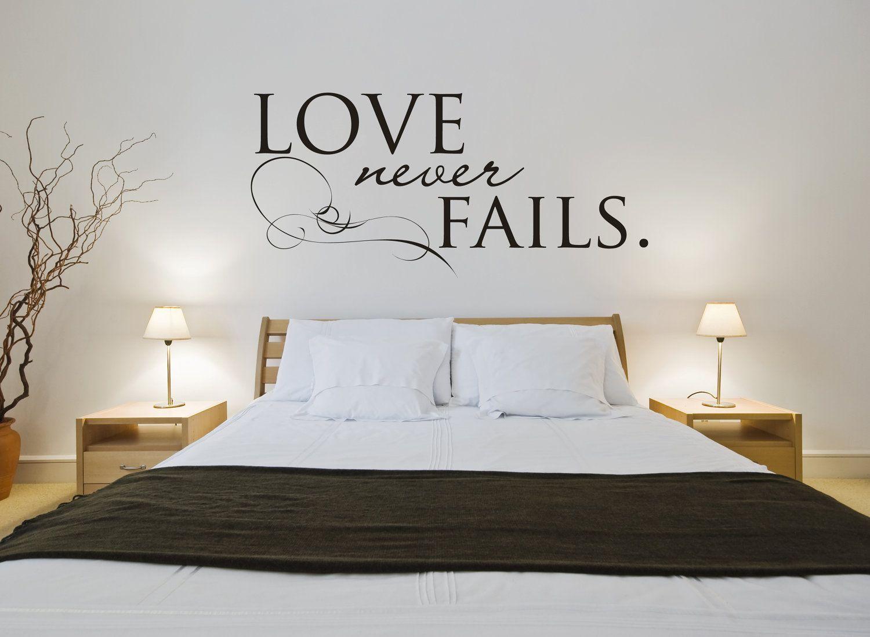 Love Never Fails Vinyl Wall Art