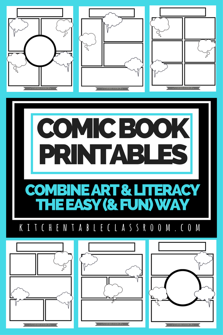 Check out these six free printable comic book pages! What a fun and ...