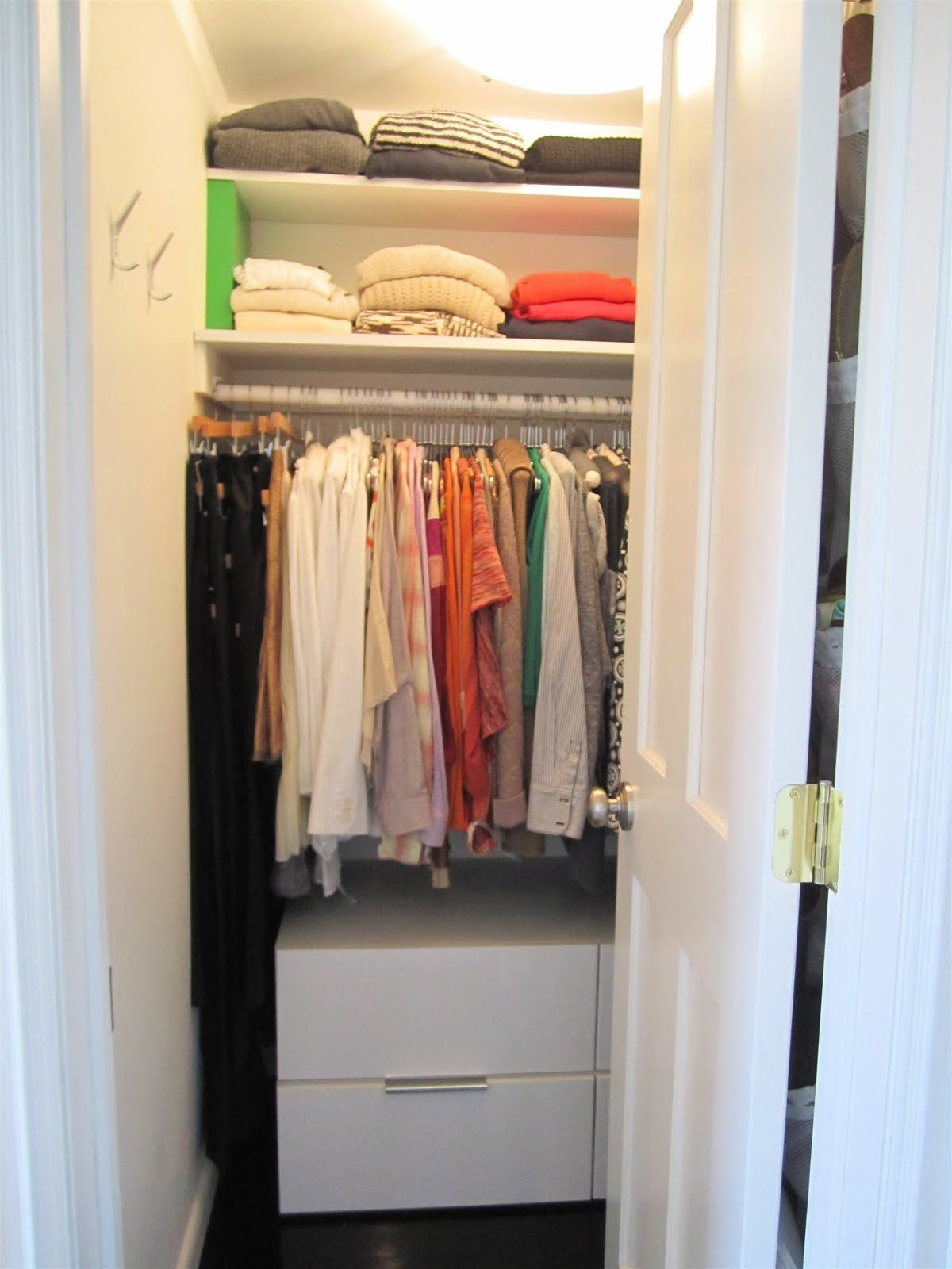 Small WalkIn Closet Before + (Just About) After Small
