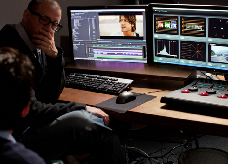 Film Editor Takes Break To Address Camera Shot Video Editing Software Video Editing Top Videos