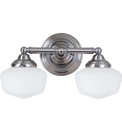 Sea Gull Lighting 2 Light Brushed Nickel Fluorescent Bathroom Vanity 44437ble 962 Home Depot Canada 164 00