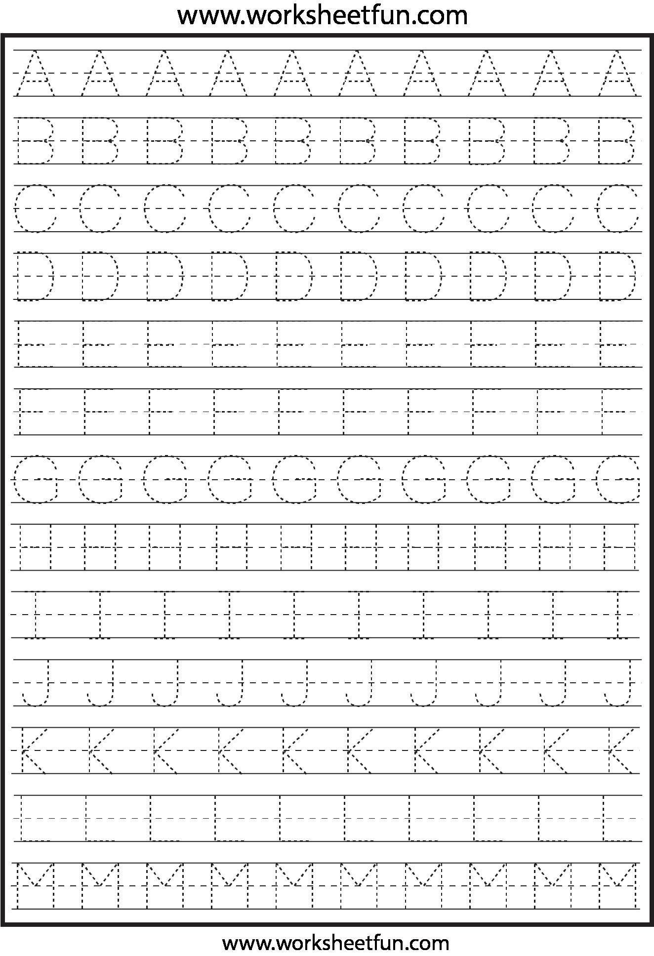 Abc Traceable Worksheets In With Images