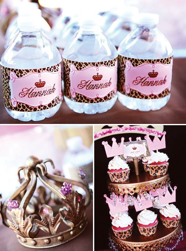pink and leopard princess party  www.etsy.com/...  @atozebracelebrations   #kidsparty  #princessparty  #birthdayparty
