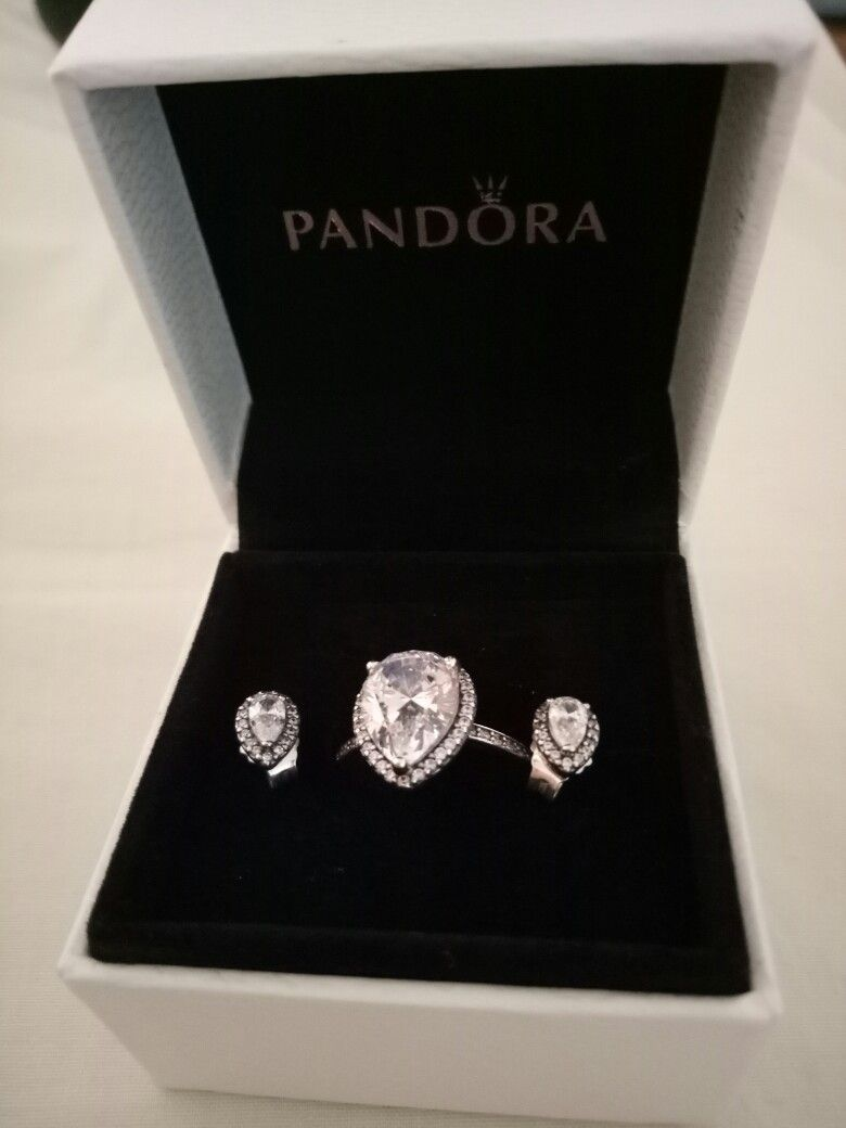 9be4e8408 Pandora Radiant Teardrop Ring and Radiant Teardrop Earrings ...