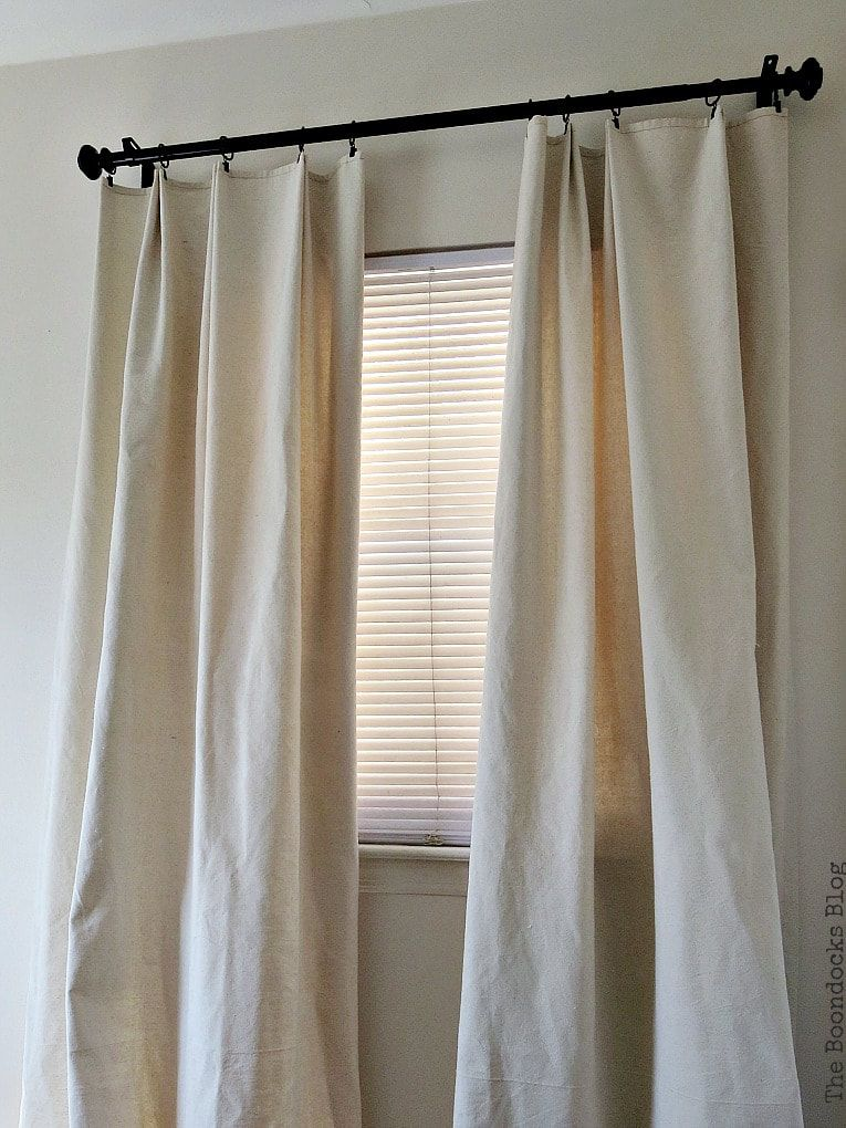 How To Make Pretty Pleated Drop Cloth Curtains Drop Cloth