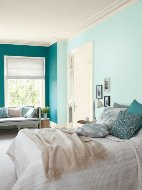 Mintgrün Wandfarbe Attraktive Farbideen Für Das Schlafzimmer