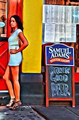 Featured Art - Drink Good Beer  by Alice Gipson