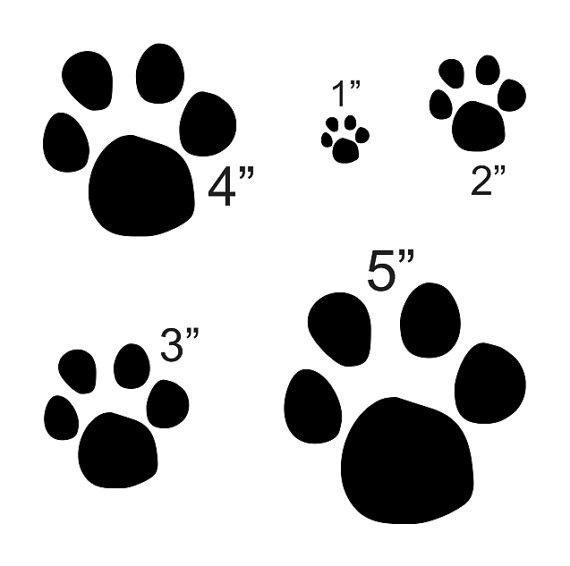 PLANTILLA de la pata del gato con 5 total por OaklandStencil