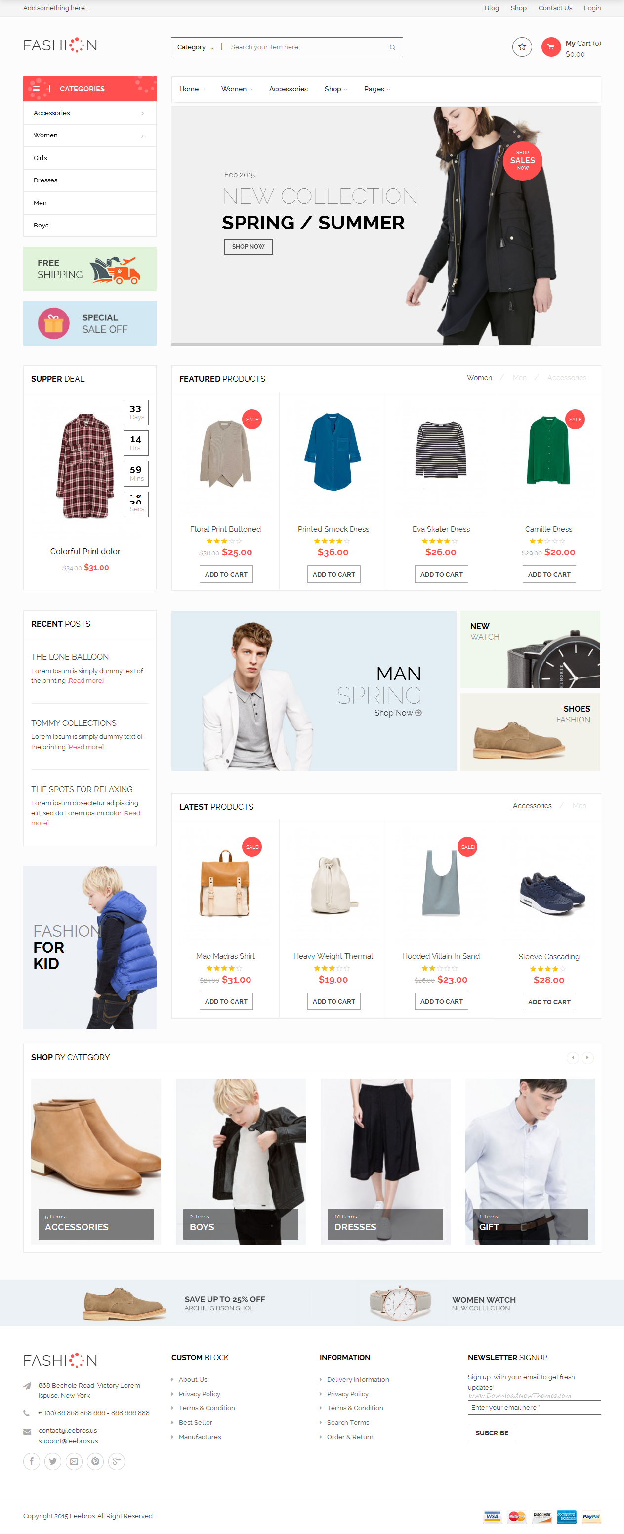 Fashion Store – Responsive WooCommerce Theme is suitable for fashion and other web #shop. We have included multiple layouts for home page, blog page to give you best selections in customization. #WordPress #eCommerce