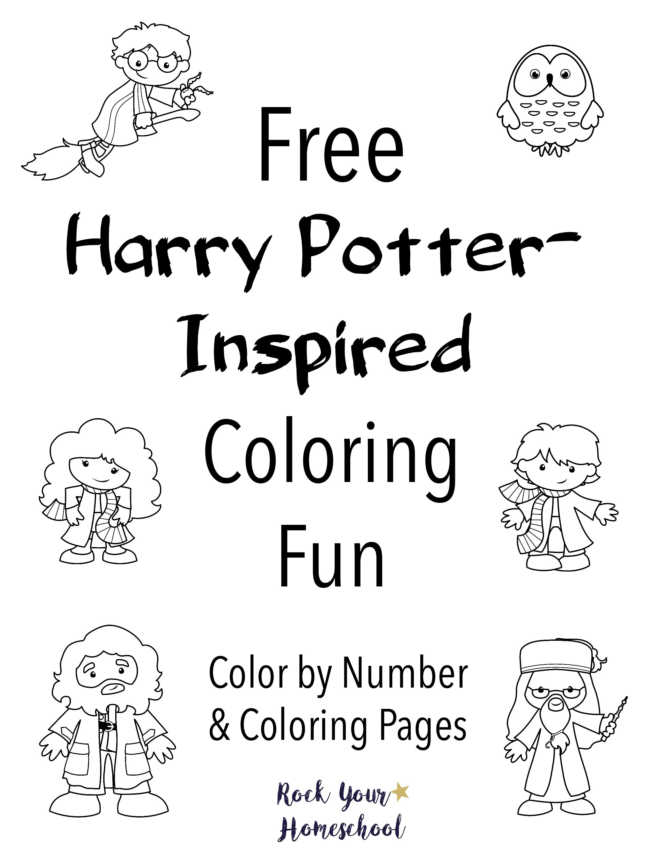 Free Harry Potter Inspired Coloring Fun Harry Potter Printables