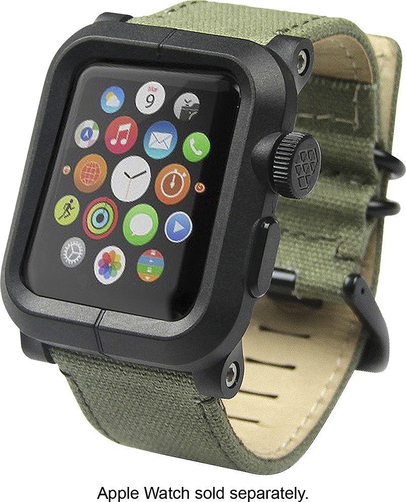 Lunatik Epik Case And Band For Apple Watch 42mm Green Epik 021 Best Buy Apple Watch Accessories Apple Watch Apple Watch 42mm