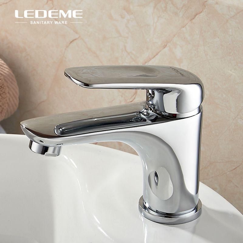 Ledeme Bathroom Faucet Single Handle Lavatory Faucet Basin Hot And Cold Water Sink Mixer Tap Crane L1048