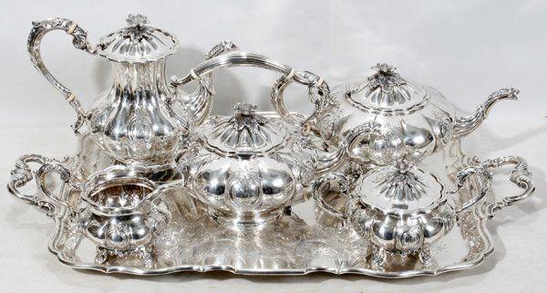 vintage kitchen item silver plated tea pot ornate tea pot Antique silver tea pot teapot with pattern collectibles