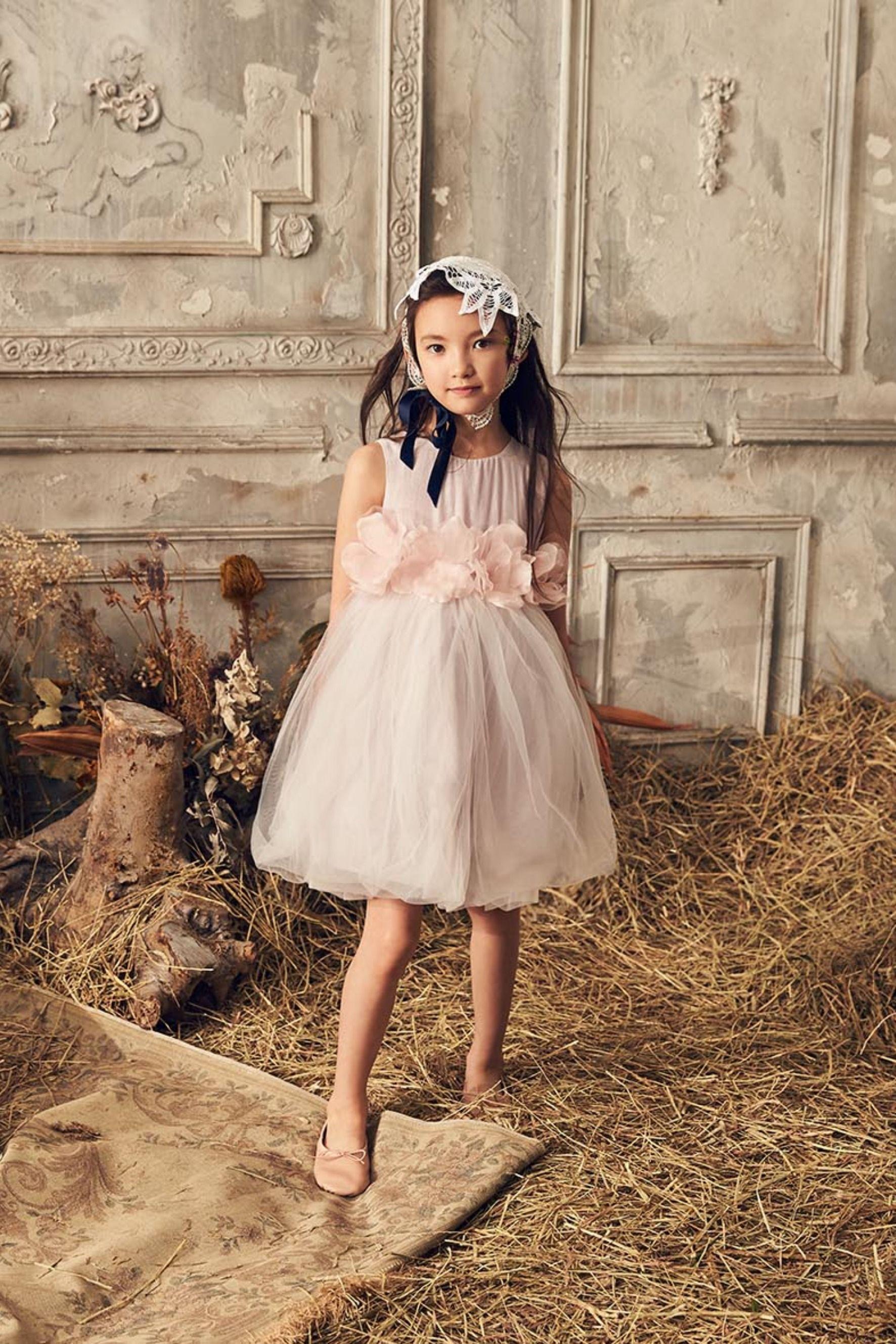 lavender flower girl dress tulle